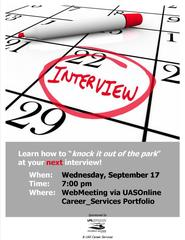 Interviewing Workshop Flyer Online