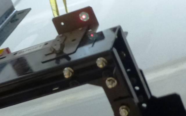 Elevator Laser Target