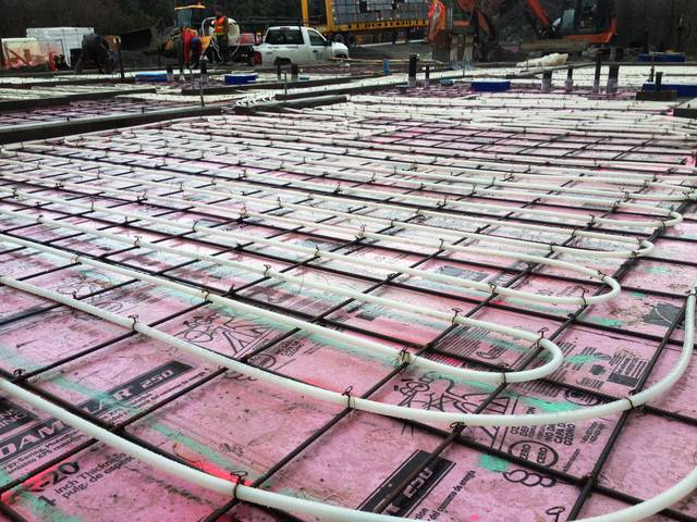 Pink Insulation,    Grey Steel,    White Pipe
