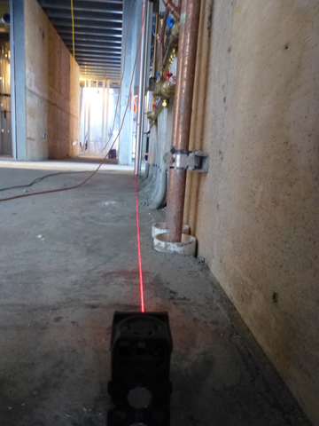 Laser Wall Alignment