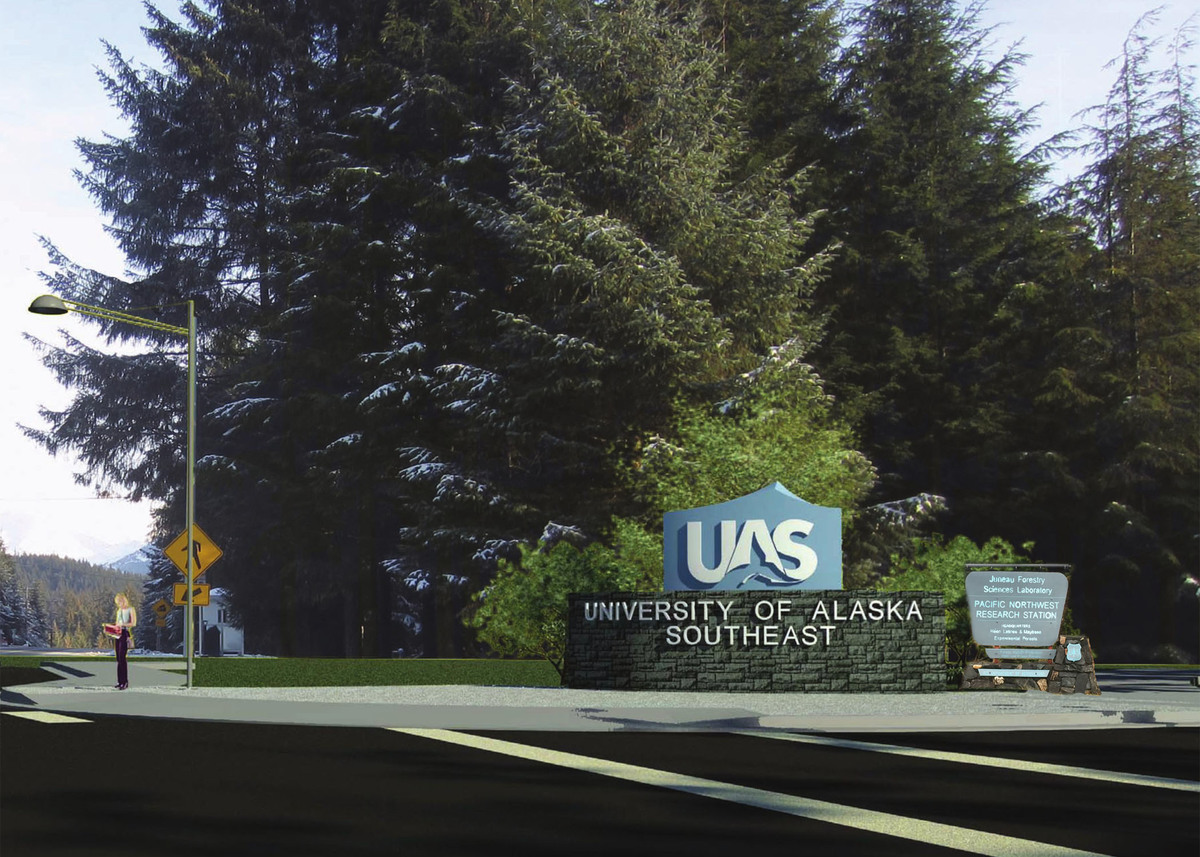 UAS Entrance Sign New